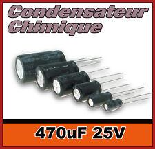 25/470# Condensateur chimique 470µF 25v 5 à 100 pcs 470uF