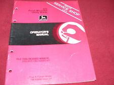 John Deere 423 Front Mounted Utility Blade Operator's Manual