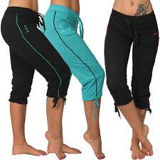 3/4 Niedrige Leichte Jogging Capri Hose Sport farbiges Band Fitness Taschen