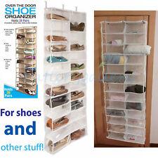 26 Pockets Over Door Hanging Bag Box Shoe Rack Hanger Storage Tidy Organizer ZX