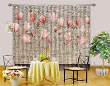 Free Tender Flowers 3D Curtain Blockout Photo Print Curtains Drape Fabric Window
