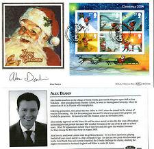 2004 CHRISTMAS M/SHEET SIGNED ALEX DEAKIN BENHAM FIRST DAY COVER SHS
