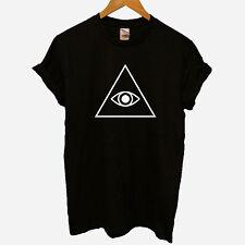 Illuminati confermato Conspiracy controllo PIRAMIDE OCCHIO Hipster Anarchy T-SHIRT