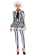 Music legs womens Beetlejuice tutu costume set