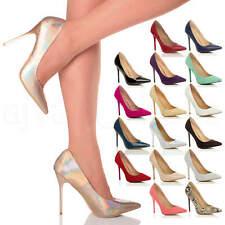 Bottes Femmes Talon Haut Pointu Contraste Cour Smart Fête Travail Chaussures escarpins taille