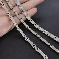 Unisex Men Women Anti-allergy Pure Ti Titanium Germanium Necklace Chain
