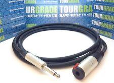 """Neutrik Guitar Extension Cable Lead 6.35mm 1/4"""" Mono Jack Plug to Socket PRO"""