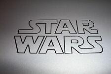 STAR WARS Logo Outline Vinyl Decal Sticker BLACK