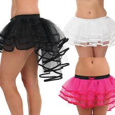 Black Burlesque Tutu Skirt Bustle Showgirl Halloween Angel Hen Night Fancy Dress