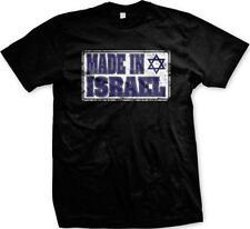 Made In Israel Flag Star Of David Jewish Hebrew Israeli Pride Mens T-shirt
