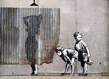 Banksy Dismaland Canvas Graffiti Wall Art Poster Print