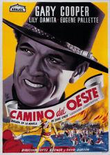 Fighting caravans Gary Cooper vintage movie poster
