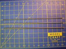 Axe acier 125 mm choix Dia. moteur train modélisme ferroviaire wagon voiture HO