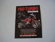 advertising Pubblicità 1984 MOTO KAWSAKI 750 TURBO