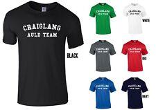 Craiglang Auld Equipo Camiseta-Divertido Juego de fútbol con Escocia Escocés caminar todavía