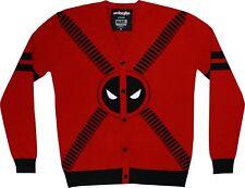 Marvel Deadpool Strap Logo Cardigan Sweater