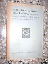 VIRGILIO IL LIBRO V DELL'ENEIDE SANSONI 1942 L1
