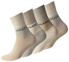 8 Paar Herren Kurzsocken Relaxx Socken Quarter Socks Beige ohne Gummibund