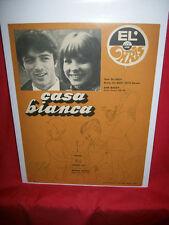 MARISA SANNIA + DON BACKY Casa bianca SANREMO 1968 Spartito gigante Sheet Music