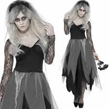 Para Mujer Vestido Elaborado Disfraz De Halloween Cementerio novia novia muerta Smiffys 43729