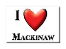 SOUVENIR USA - ILLINOIS FRIDGE MAGNET I LOVE MACKINAW (TAZEWELL COUNTY)