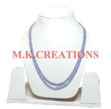 2-4mm Natural Tanzanite Beads Beaded 2 Strand Multi Layer Bib Statement Necklace