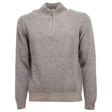 0128V maglione uomo ALTEA grigio melange lana sweater men