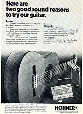 1973 Hohner Contessa Acoustic Guitar & Harmonica Print Ad