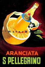 San Pellegrino 1960 Italy Vintage Poster Print Classic Italian Orange Soda Drink