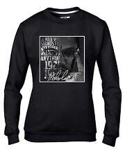 Malcolm X Signature Women's Sweatshirt Jumper - Civil Rights Black Panthers