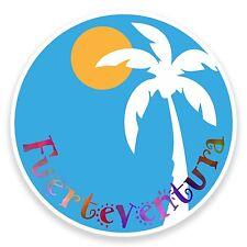2 x 10cm Fuerteventura Vinyl Sticker Luggage Travel Tag Spain Label Fun #9180