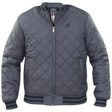 New Mens Kangol Designer Padded Quilted Full Zip Collar Jacket Lined Winter Coat