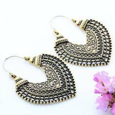 Women Retro Bohemian Boho Tibetan Carved Beads Tassel Dangle Earrings Jewelry
