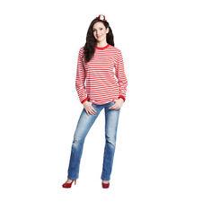 Ringelshirt, rot-weiß, langarm Matrose Köln Clown Matrosenhemd Kölnhemd