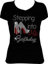 Stepping into my Birthday Shoes Bling Shirt, Rhinestone Birthday Shirt BD10