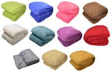 "Teddy Fleece Blanket Super Soft Bed Sofa Home Thick Fleecy Throw Over 51"" x 71"""