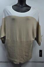 "Style & Co Woman Plus Size Sweater ""Honey Wheat/White"" Dolman Sleeve 3x MSRP $54"