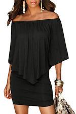 Vestito donna elasticizzato corto abito pratico donna scollatura variabile