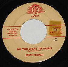 "Bobby Freeman 7"" 45 HEAR Do You Want To Dance JOSIE Big Fat Woman"