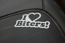 I LOVE BITERS Sticker Decal Vinyl JDM Euro Drift Lowered illest Fatlace