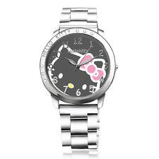hellokitty watches Lovely Cartoon designer Quartz women wrist watch Luxury Brand