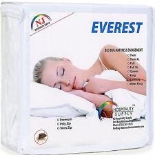 Mattress Encasement Water Bed Bug Dust Mite Proof Hypoallergenic Zippered Cover