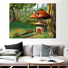 3D Mushroom House Forest 9 Wall Stickers Vinyl Wall Murals Print AJ WALLPAPER CA