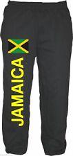 JAMAICA Pantalón Chándal - Con Bandera Estampada - M – XXL- Negro -
