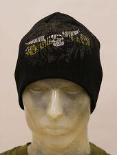 Ego Sum de alta calidad de Winged Skull Logo Insignia Watch Cap / Beanie Hat-Negro
