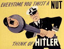 WW2 American Propaganda Poster WWII anti German Military Print - Framed Unframed