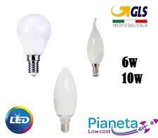 LAMPADINE LED ATTACCO E14 MINI GLOBO BULBO CANDELA FIAMMA OLIVA 6W 10W  FREDDA