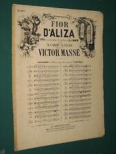 Partition Chant et piano Victor MASSÉ Fior d'Aliza