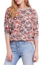 NWT Free People Go on Get Floral Sweatshirt *run huge* Retail $98
