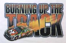 Big Dogs T Shirt Burn Up Track Race Car Flames L XL 2X 3X 4X 5X 6X White Cotton